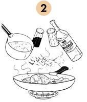 Рецепты шефов: Кассуле с фермерской цесаркой, колбасками из баранины и белым вином. Изображение № 7.