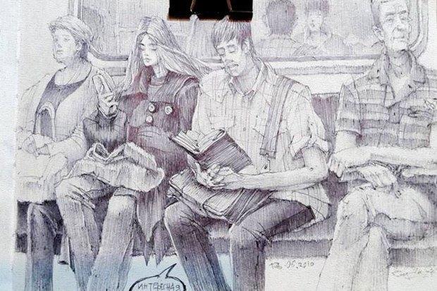 Влюблённые пары на улицах Москвы. Изображение № 10.