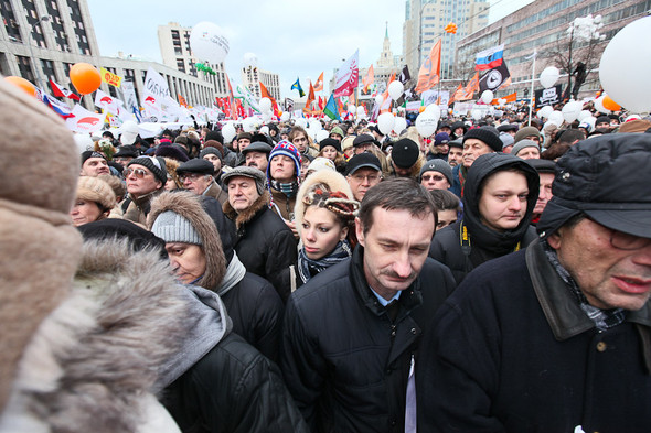 Митинг «За честные выборы» на проспекте Сахарова: Фоторепортаж, пожелания москвичей и соцопрос. Изображение № 57.