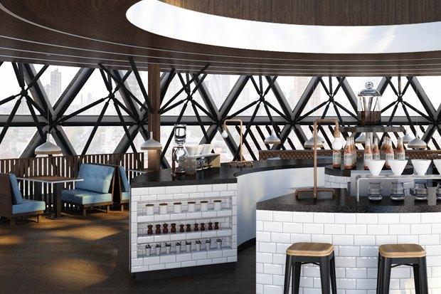 Подобные интерьеры начнут появляться в кофейнях сети Traveler's Coffee в 2014 году. . Изображение № 6.