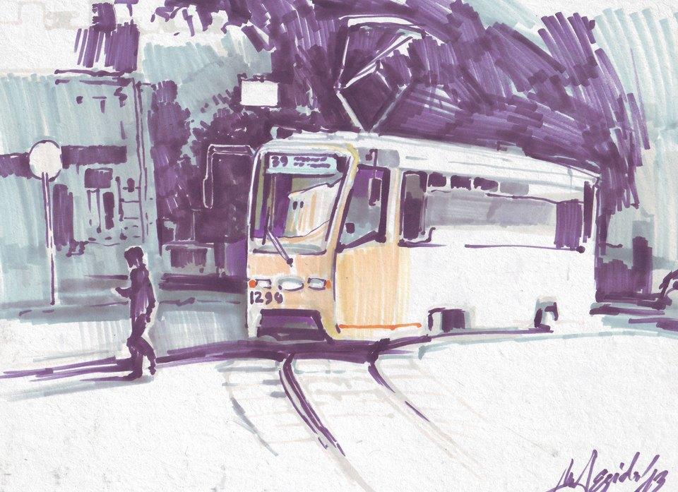 Выставка «Москва вэскизах LAM Sketching Club» впарке «Музеон». Изображение № 13.