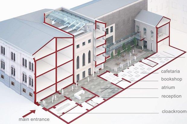 Европейский университет: 4 проекта реконструкции. Изображение № 4.