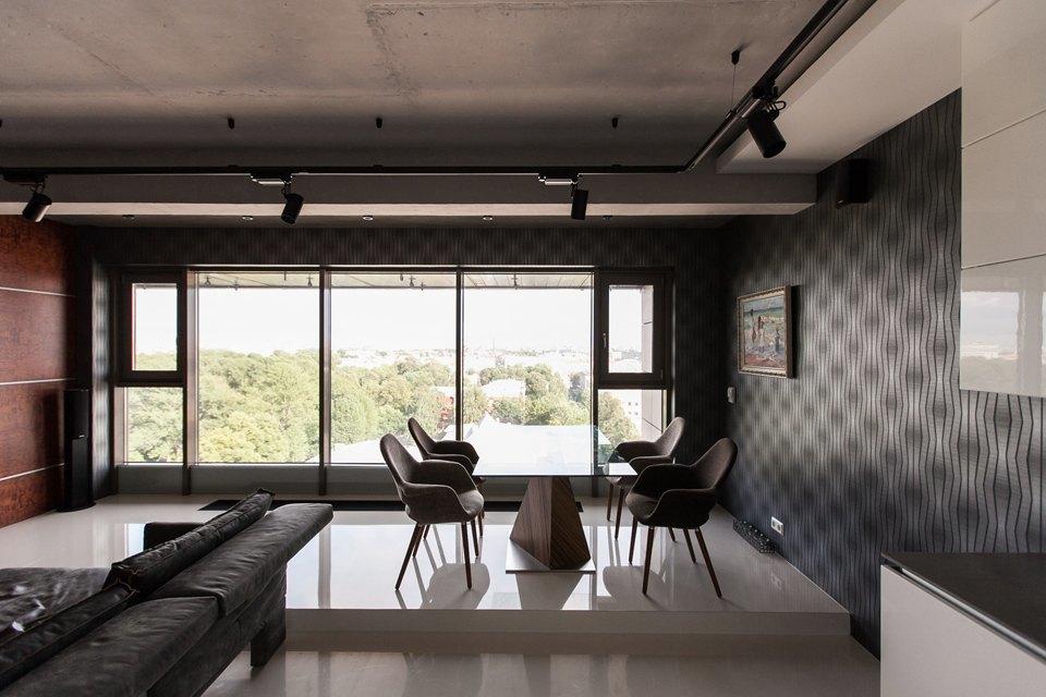 Мужская квартира с панорамным видом на город. Изображение № 5.