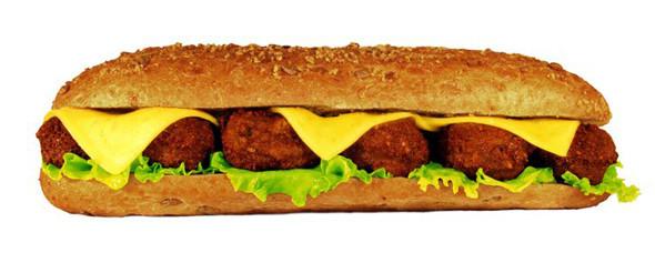 Сэндвич с фалафелем с добавление бекона в «Нямс». Изображение № 2.