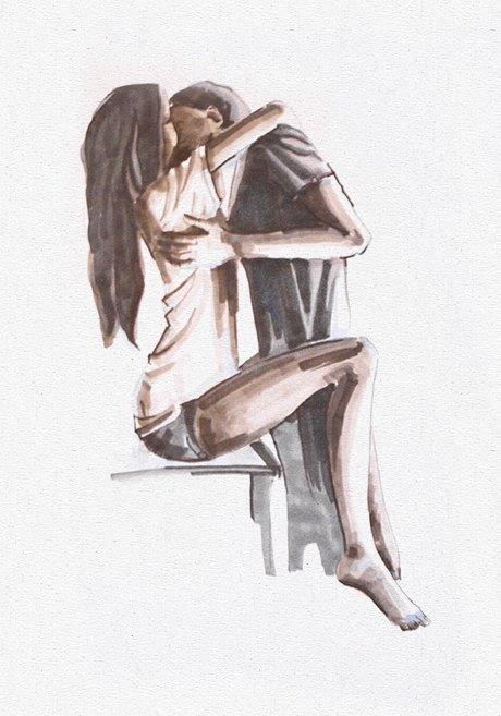 Влюблённые пары на улицах Москвы. Изображение № 4.