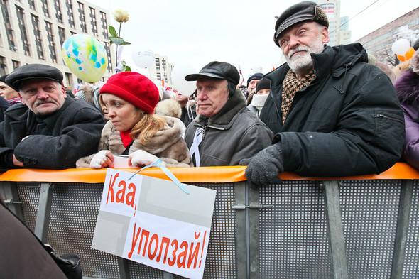 Митинг «За честные выборы» на проспекте Сахарова: Фоторепортаж, пожелания москвичей и соцопрос. Изображение № 43.