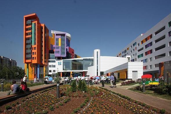 Изображение 6. На юго-западе Москвы открылась разноцветная детская больница.. Изображение № 2.