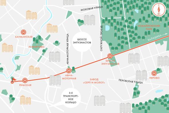 Определены маршруты скоростного трамвая в Москве. Изображение № 4.