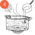 Рецепты шефов: Крем-суп из цукини и мяты с мясом утки и творожным сыром. Изображение № 6.