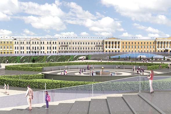 Концепция реконструкции Марсова поля и Конюшенной площади. Изображение № 6.