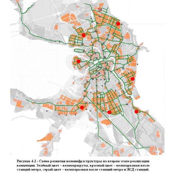 Схему велодорожек в Петербурге отправят на рассмотрение в Смольный. Изображение № 3.