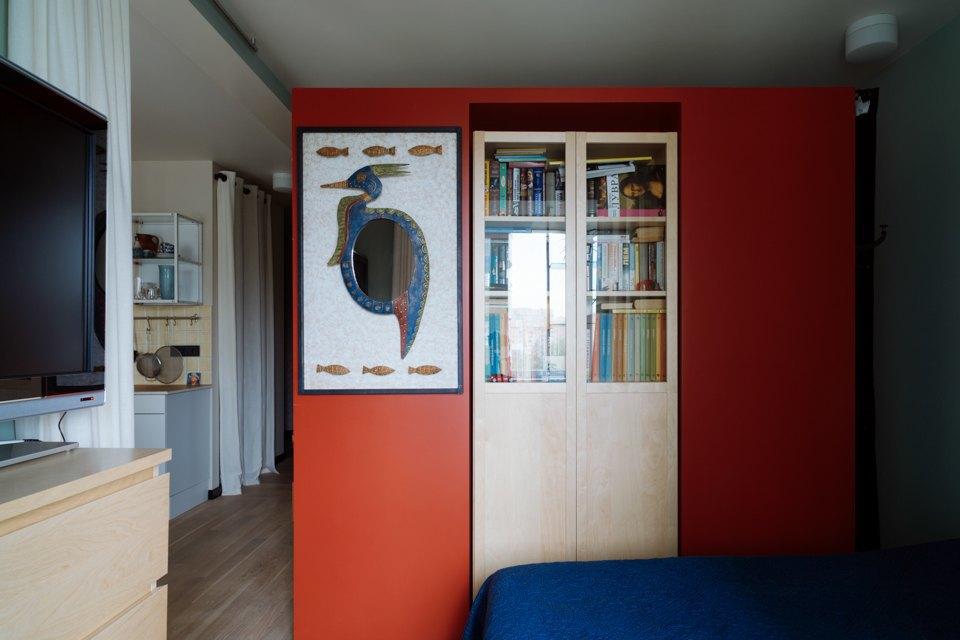 Однокомнатная холостяцкая квартира сумным зонированием. Изображение № 10.