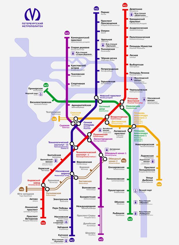 Карты на стол: 11 альтернативных схем петербургского метро. Изображение № 24.