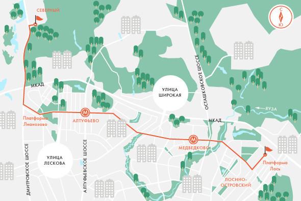 Определены маршруты скоростного трамвая в Москве. Изображение № 3.