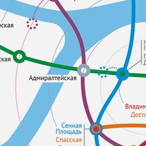 Карты на стол: 11 альтернативных схем петербургского метро. Изображение № 15.