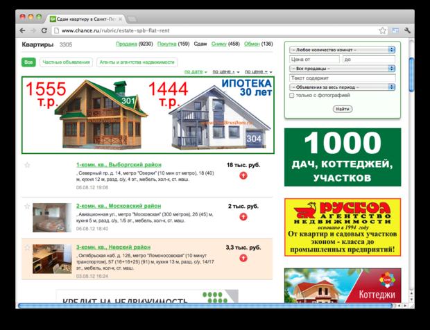 Реклама шанс питер на яндексе частные объявления о продаже мебели реклама сайта оптимизация продвижение сайтов