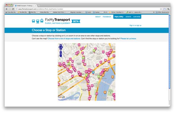 На сайте есть карта остановок, где можно посмотреть уже существующие жалобы или оставить свою. Изображение № 27.
