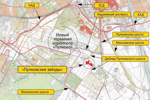 Под Петербургом построят трассу — дублёр Пулковского шоссе. Изображение № 1.