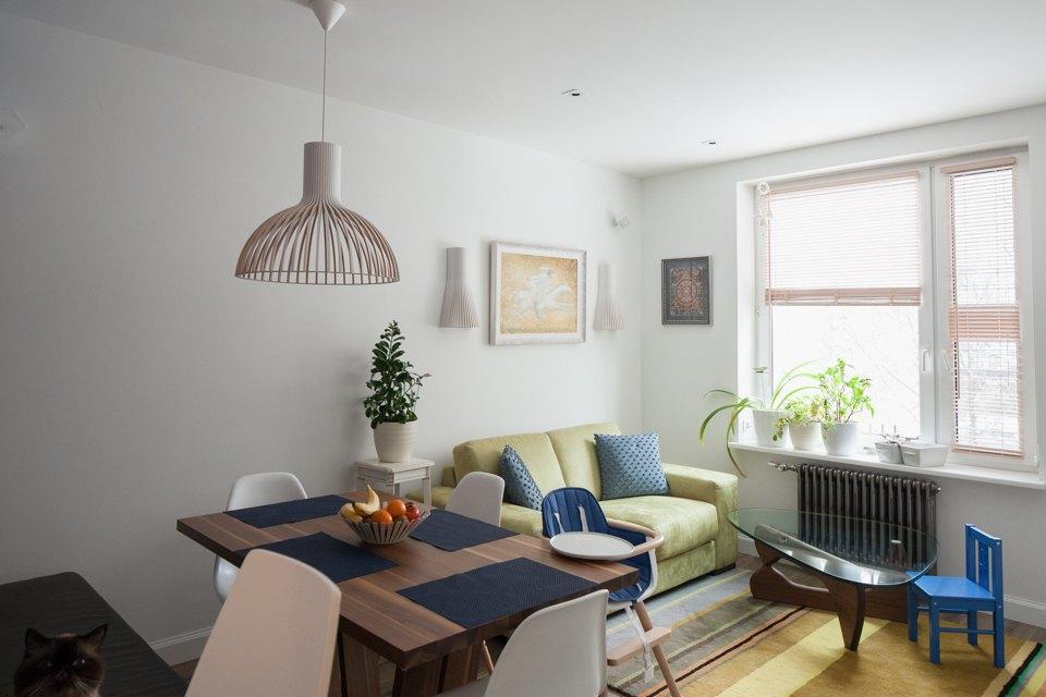 Трёхкомнатная квартира вскандинавском стиле наберегуозера . Изображение № 2.