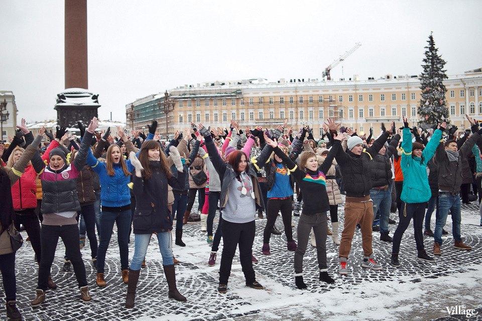 Фоторепортаж: Gangnam Style и зарядка на Дворцовой площади. Изображение № 8.
