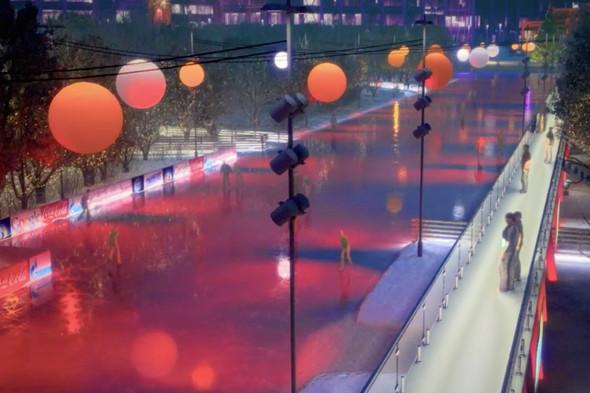 В парке Горького начали строить самый большой каток в Москве. Изображение № 16.