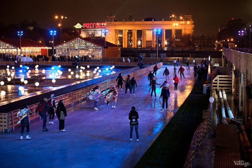 Люди в городе: Первые посетители катка в парке Горького. Изображение № 28.