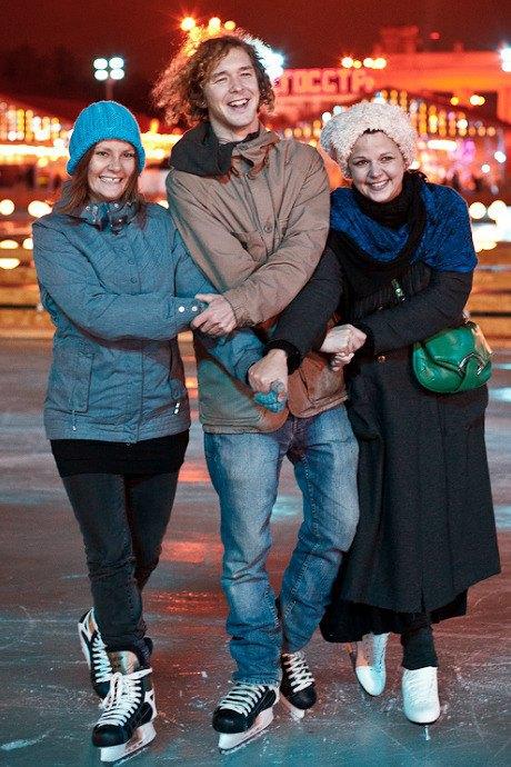 Люди в городе: Первые посетители катка в парке Горького. Изображение № 39.