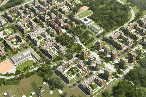 Градостроительная концепция микрогорода «Влесу» наПятницком шоссе была создана вархитектурной мастерской «Чобан &Кузнецов». Изображение № 15.
