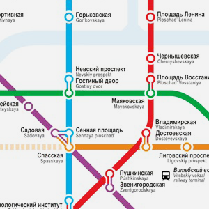 Карты на стол: 11 альтернативных схем петербургского метро. Изображение № 19.