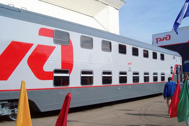 Двухэтажный поезд на выставке РЖД. Изображение № 1.