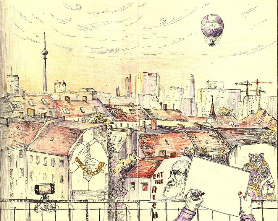 Мастер-класс городского наброска в Берлине. Изображение № 11.