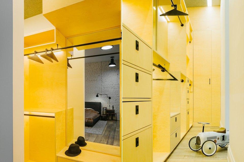 Четырёхкомнатная квартира наОстоженке скрасным холодильником и медными трубами. Изображение № 14.