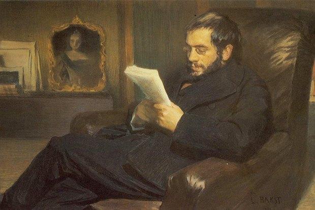Бакст Л. С. «Портрет А. Н. Бенуа». 1898 г.. Изображение № 2.