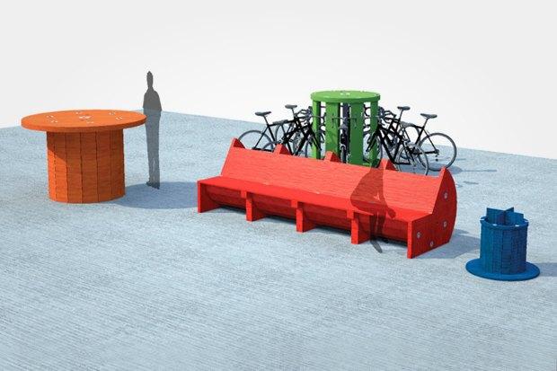 В Басманном районе появятся скамейки и урны из кабельных катушек. Изображение № 2.