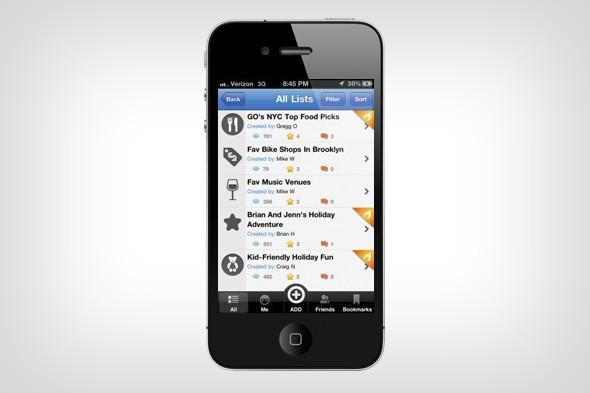 Сервис MyCityWay определяет местонахождение пользователя и выдает всю информацию, которая может быть полезна в данный момент: от расписания транспорта до ближайшего кафе. Изображение № 9.