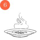 Рецепты шефов: Крем-суп из цукини и мяты с мясом утки и творожным сыром. Изображение № 8.