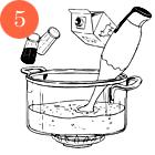 Рецепты шефов: Крем-суп из цукини и мяты с мясом утки и творожным сыром. Изображение № 7.