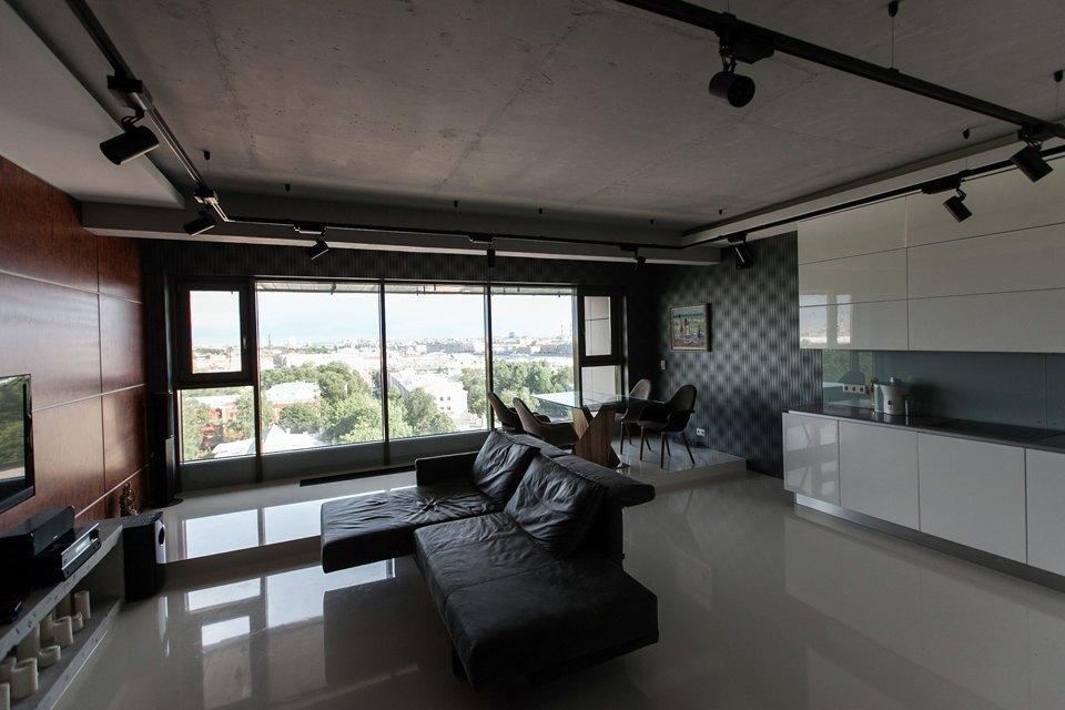 Мужская квартира с панорамным видом на город. Изображение № 7.
