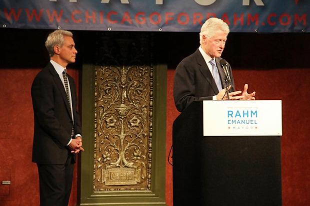 Выступление Билла Клинтона напредвыборной кампании Рама Эмануэля 18 янкаря 2011 года. Изображение № 3.