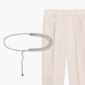 Комбо: Пояс с цепочкой и брюки прямого кроя — Стиль на Wonderzine