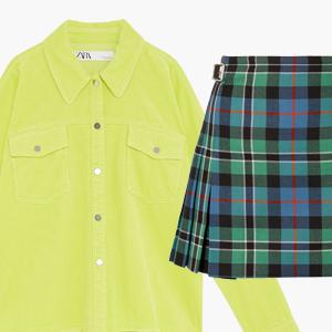 Комбо: Вельветовая рубашка с юбкой в клетку — Стиль на Wonderzine
