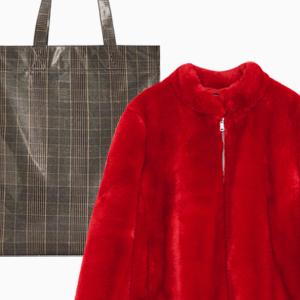 Комбо: Шуба из искусственного меха с сумкой-пакетом — Стиль на Wonderzine