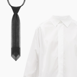 Комбо: Чёрный галстук с белой рубашкой — Стиль на Wonderzine