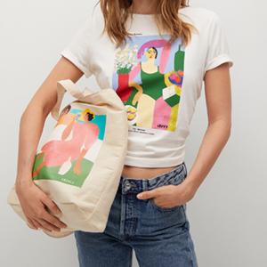 Сумка Mango c набивным рисунком мексиканской художницы Аны Леови  — Вишлист на Wonderzine