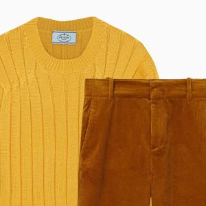Комбо: Вельветовые брюки с шерстяным свитером — Стиль на Wonderzine