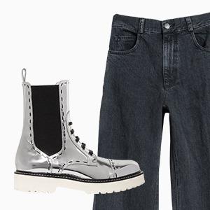 Комбо: Брюки с грубыми ботинками — Стиль на Wonderzine