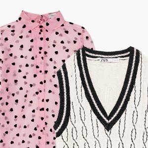 Комбо: Трикотажная жилетка с рубашкой — Стиль на Wonderzine