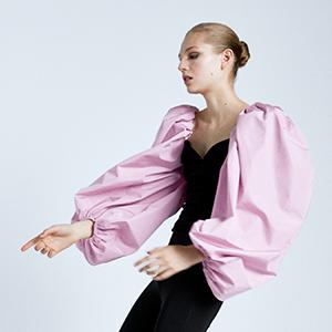 Яркая блуза Zara с пышными рукавами
