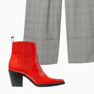 Комбо: Широкие брюки с казаками — Стиль на Wonderzine
