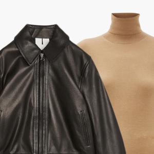 Комбо: Укороченная кожаная куртка с водолазкой — Стиль на Wonderzine